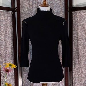 Cache black long sleeved top.